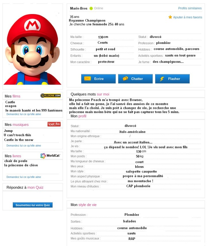 Profil meetic de Mario
