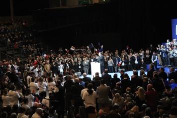 Meeting d'Emmanuel Macron. Crédits : @Léa Gorius