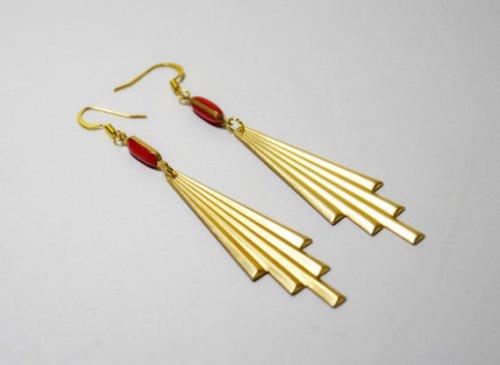 boucles d'oreilles Art Deco Margotte Zébulone en vente sur Etsy