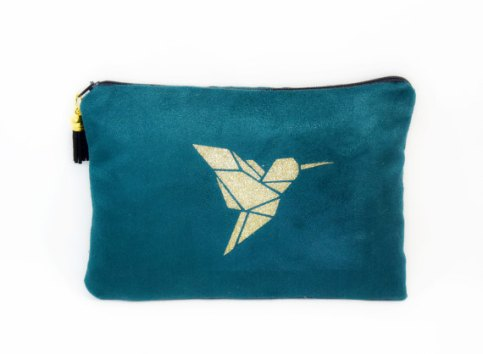 trousse de maquillage colibri en vente sur la boutique Etsy