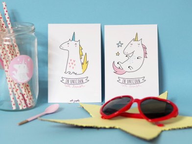 "Collection ""in Unicorn we trust"". photo: Etsy Sobi Graphie"
