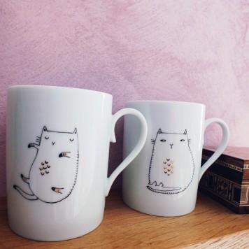 Mugs chat or. Photo Hélène Monnier
