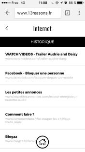 Capture d'écran du site 13raisons.fr