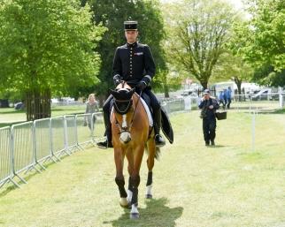 Thibaut Valette en début de préparation pour le dressage @Flickr / Badminton Horse Trials