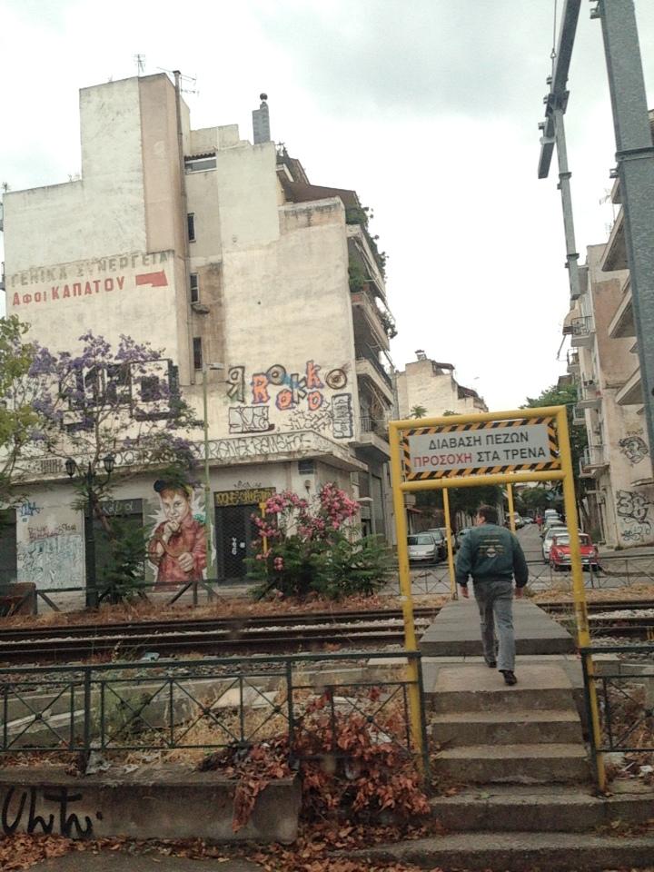 Athènes : entre bâtiments abadonnés et tags