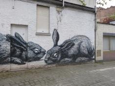 Street Art à Gand, par Roa Crédit : Czaplicki Marylou