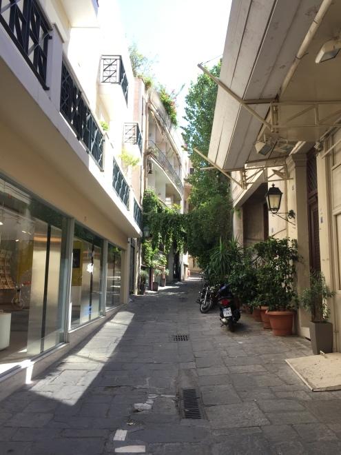 Une petite ruelle athénienne