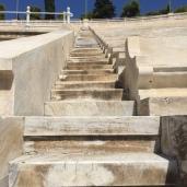 Les escaliers du stade