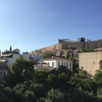 Vue de l'Acropole depuis le musée