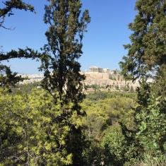 La vue depuis la Colline des Muses, qui culmine à 147 mètres d'altitude