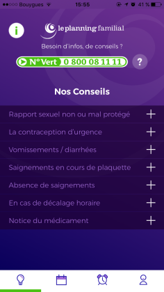 Capture d'écran de l'application Pill'oops