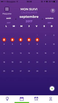 Capture d'écran de l'application Pill'oops